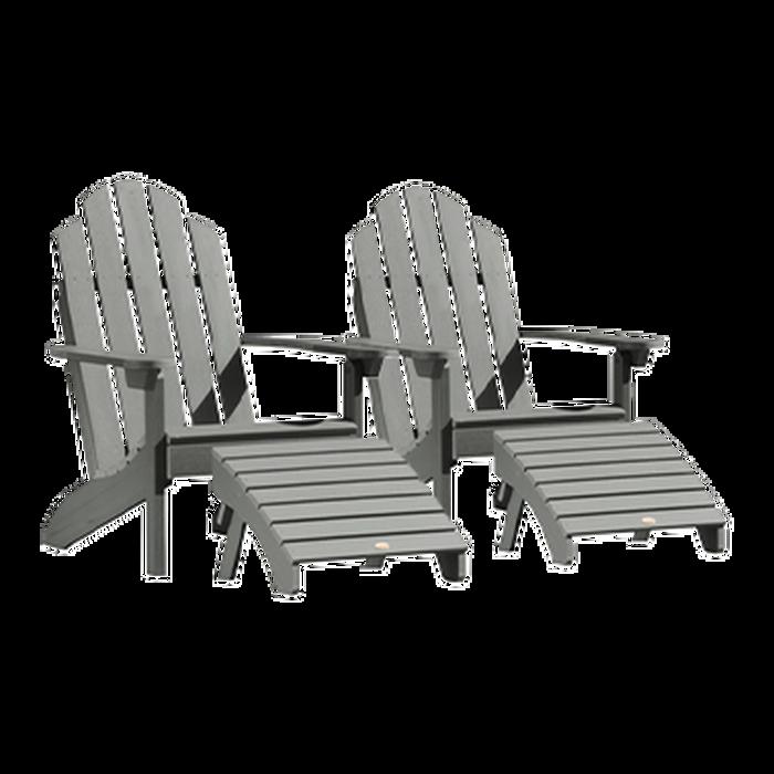 Highwood USA Classic Westport 2-Piece Adirondack Chair Set in Nantucket Blue