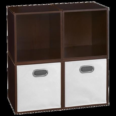 Regency Global Sourcing Niche Cubo 6-Piece Storage Set in Truffle/White