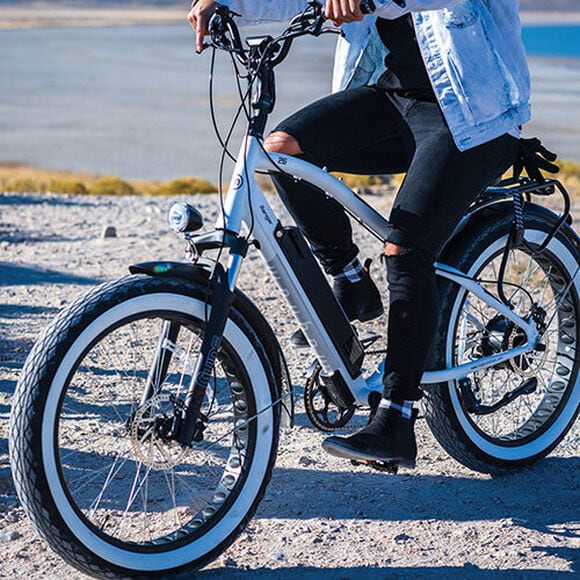 Person riding Magnum electric bike