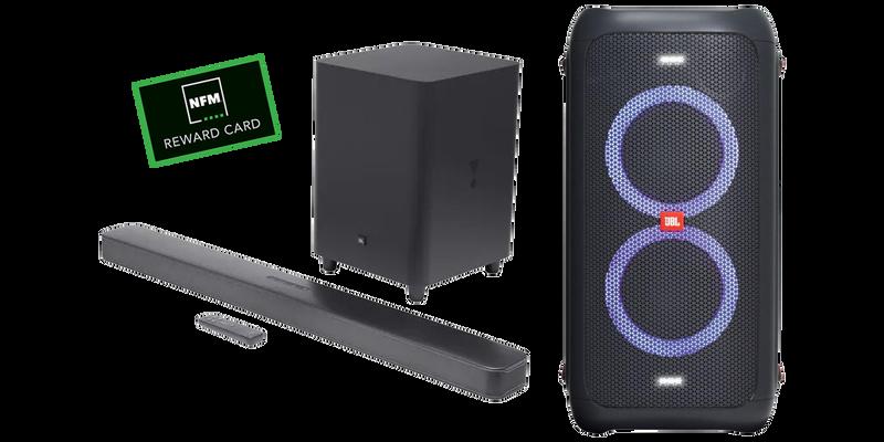 JBL Speakers, Soundbar and NFM Reward Card