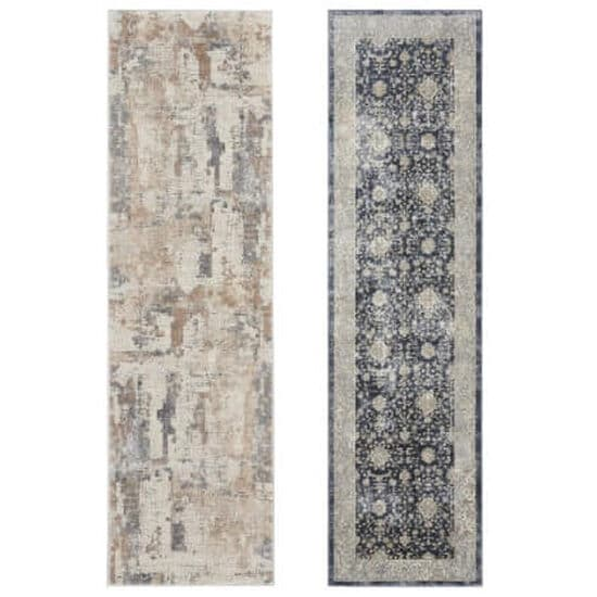 Two runner rugs in different styles highlighting wide style selection