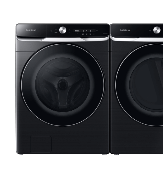 Samsung 5 Cu. Ft. Front Load Washer with OptiWash and 7.5 Cu. Ft. Electric Dryer Laundry Pair in Brushed Black