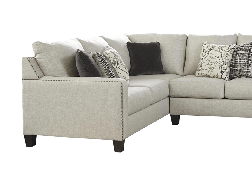 Signature Design by Ashley Hallenberg 2-Piece Left Arm Facing Sectional in Fog