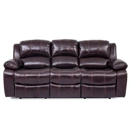 Dark red leather sofa
