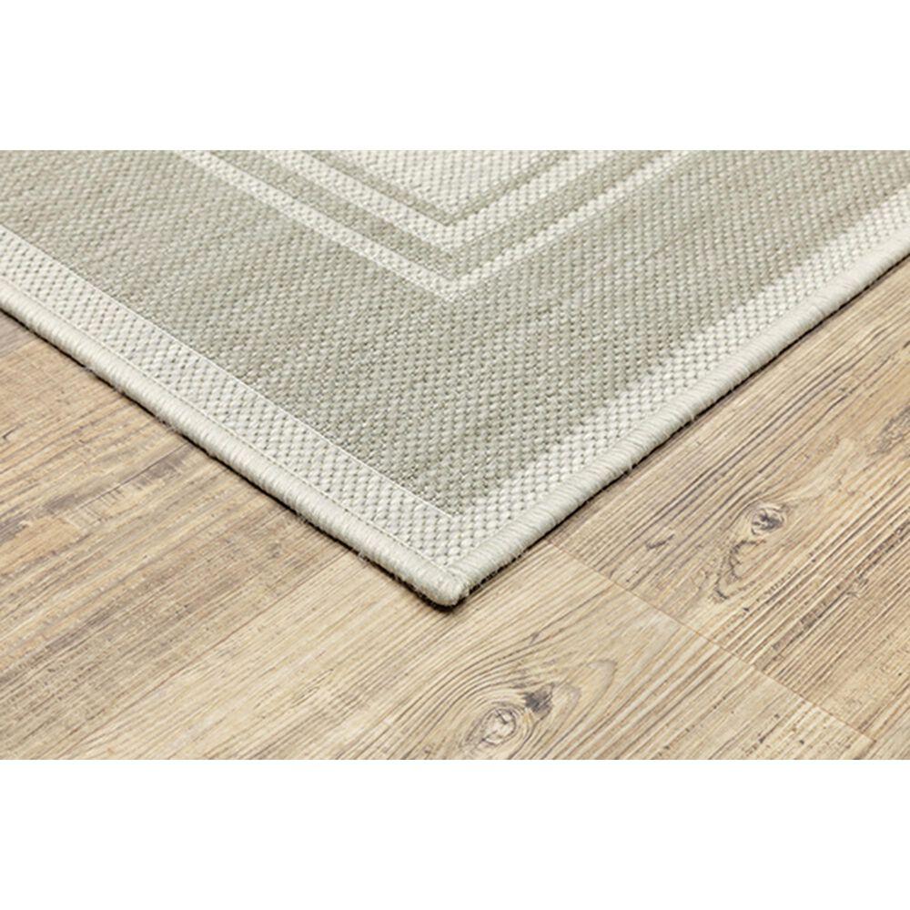 "Oriental Weavers Portofino Outdoor 6765W 3'3"" x 5' Ivory and Gray Area Rug, , large"