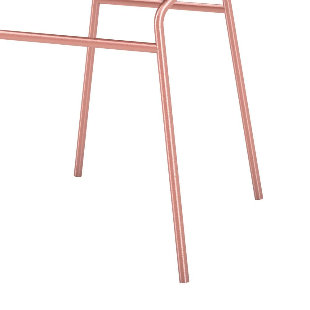 Dayton Madeline 2-Piece Chair with Seat Cushion Set in Rose Pink Gold/Black, , large