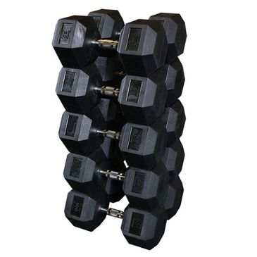 Body Solid 80-100 lb Hex Dumbbell 10 Piece Set, , large