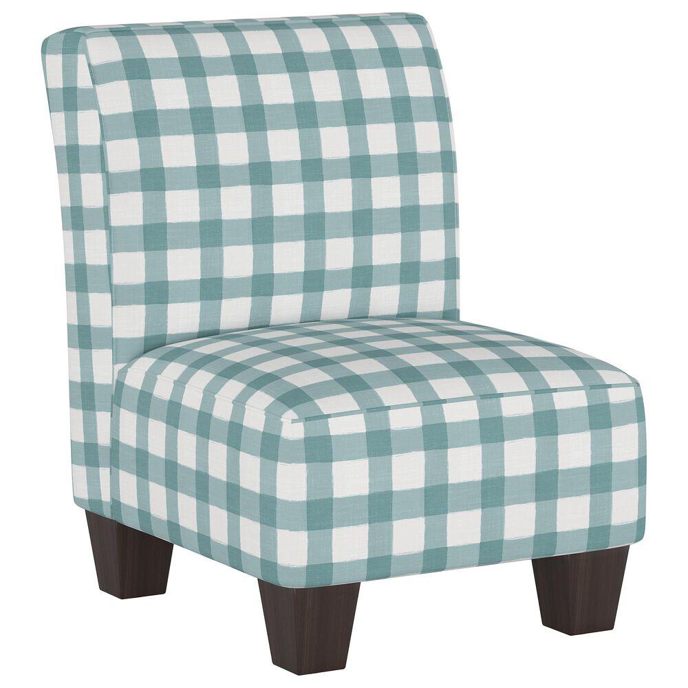 Skyline Furniture Kids Chair in Buffalo Gingham Powder Blue, , large