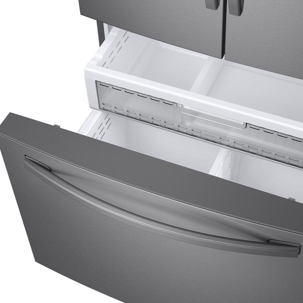 Samsung 23 Cu. Ft. 3-Door Counter Depth French Door Food Showcase Refrigerator in Stainless Steel, , large
