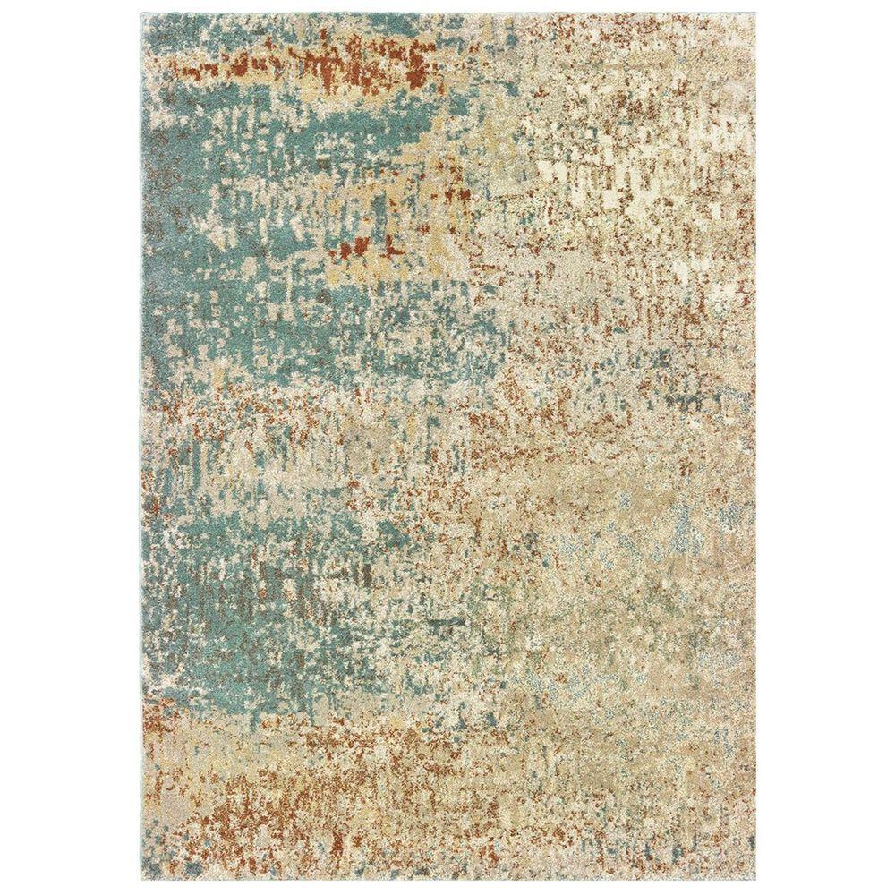"Oriental Weavers Carson 9654B 2'3"" x 7'6"" Blue Runner, , large"