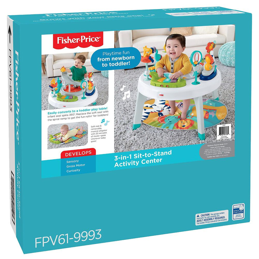 Fisher-Price 3-In-1 Sit-to-Stand Activity Center, , large