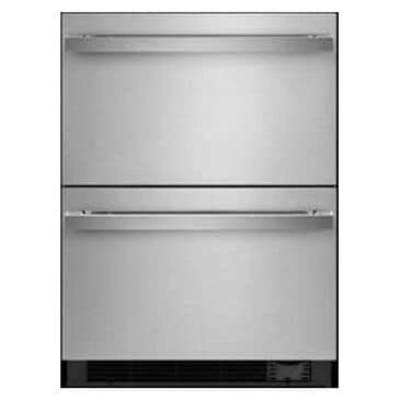 """Jenn-Air Noir 24"""" Double Drawer Refrigerator with Freezer in Stainless Steel, , large"""
