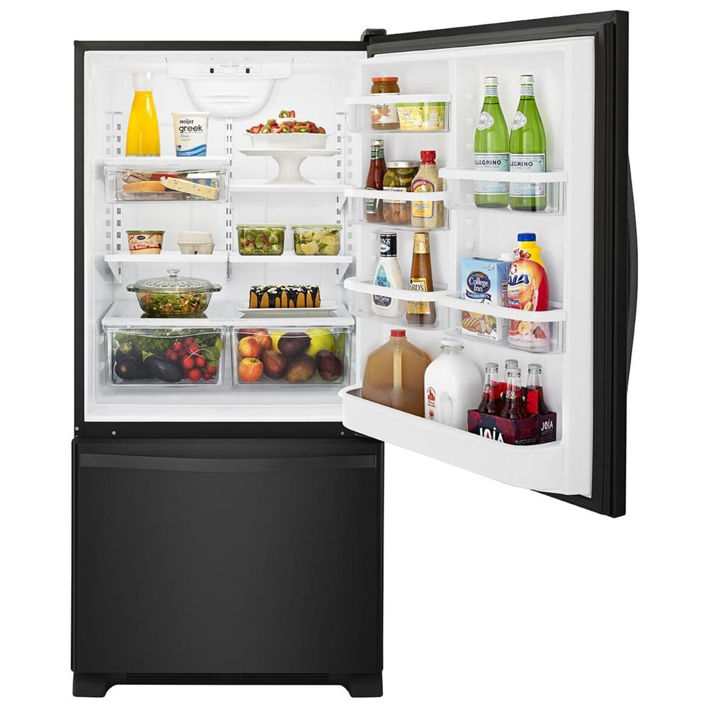 Whirlpool 22 Cu. Ft. Bottom-Freezer Refrigerator with Freezer Drawer in Black , Black, large