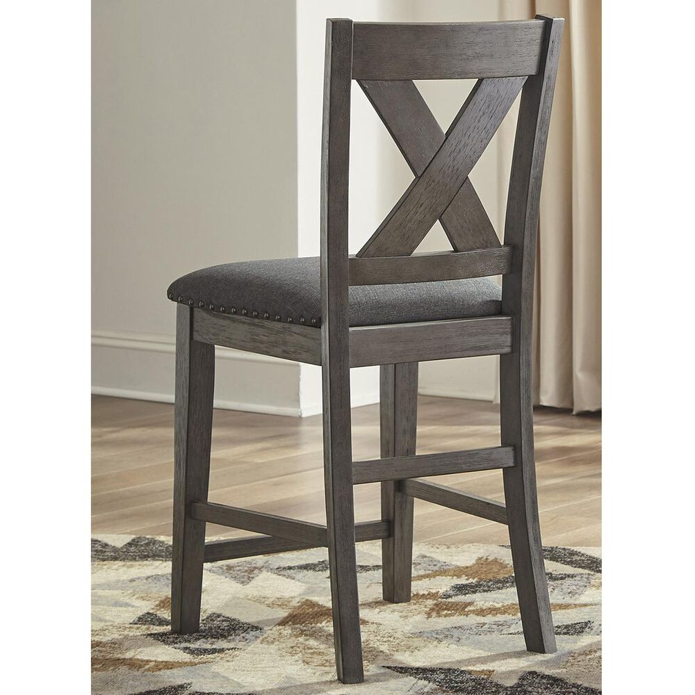 Signature Design by Ashley Caitbrook Counter Height Chair in Antiqued Gray Wash, , large