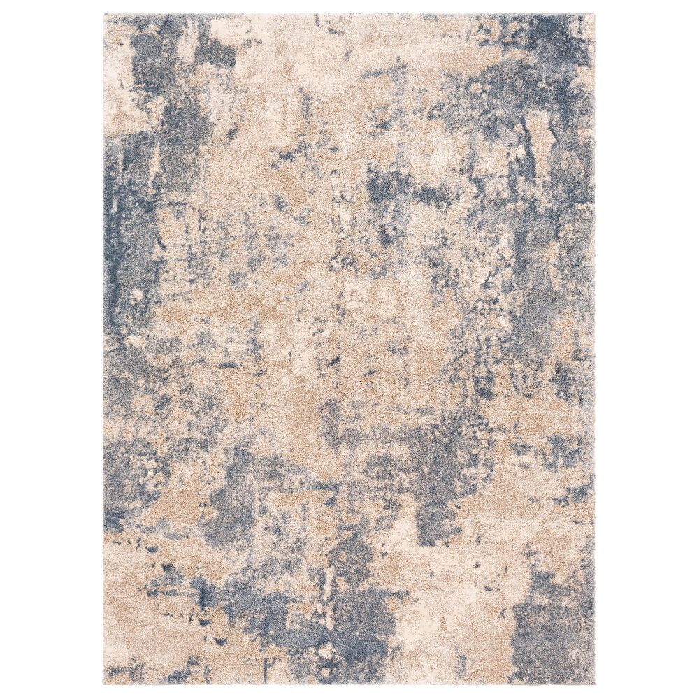 "Surya Venice VNE-2303 7'9"" x 10'3"" Blue, Camel and Ivory Area Rug, , large"