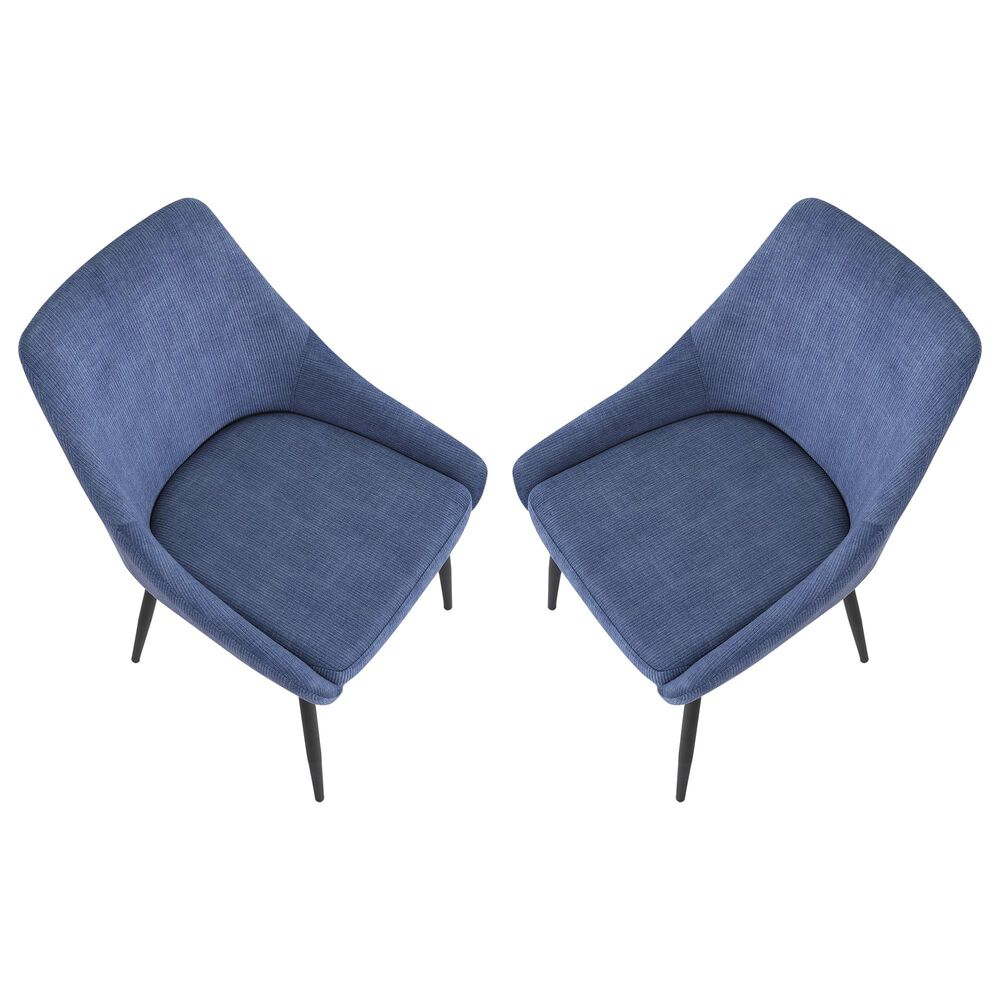 Lumisource Diana Dining Chair in Blue/Black (Set of 2), , large