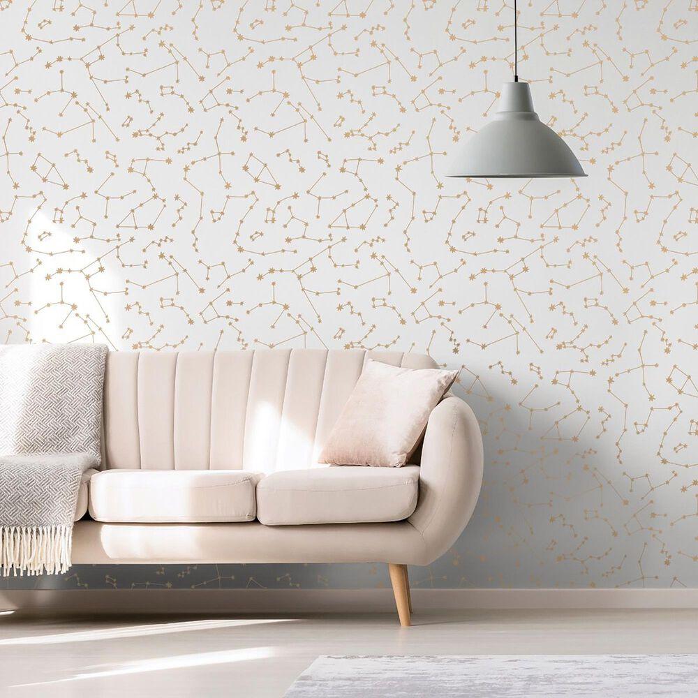 Tempaper Novogratz Constellations Frost Peel and Stick Wallpaper, , large