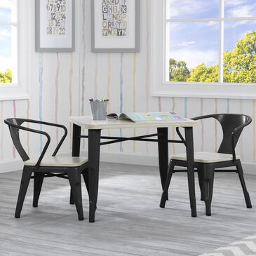 Delta Bistro Table and 2 Chair in Black and Driftwood, , large