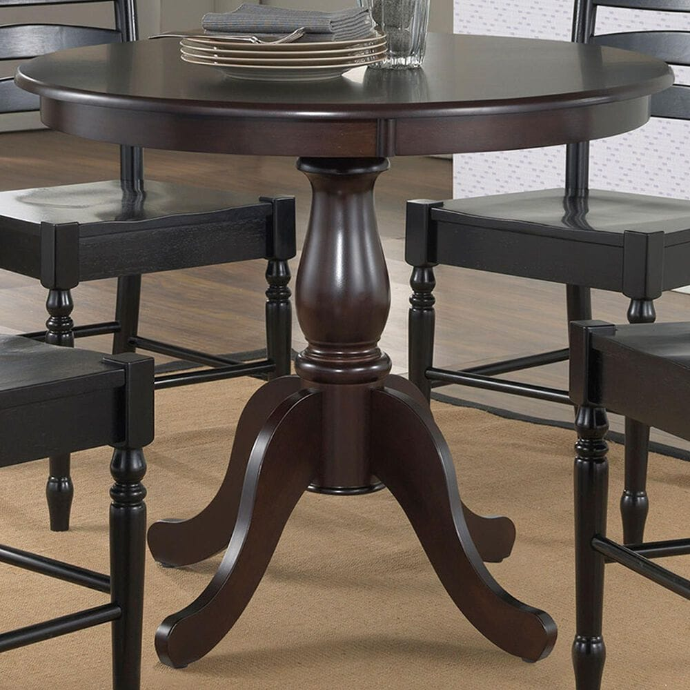 """Carolina Chair and Table Fairview 36"""" Dining Table in Espresso, , large"""