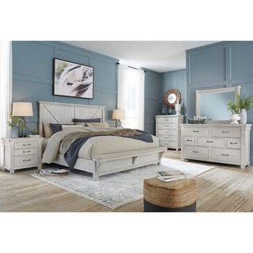 Signature Design by Ashley Brashland 5 Piece Queen Bedroom Set in White, , large