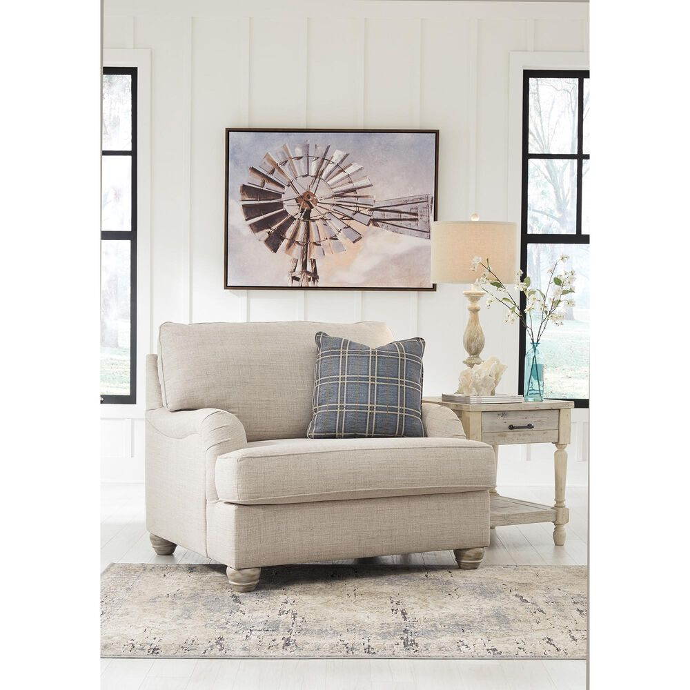 Signature Design by Ashley Traemore Chair and a Half in Linen, , large
