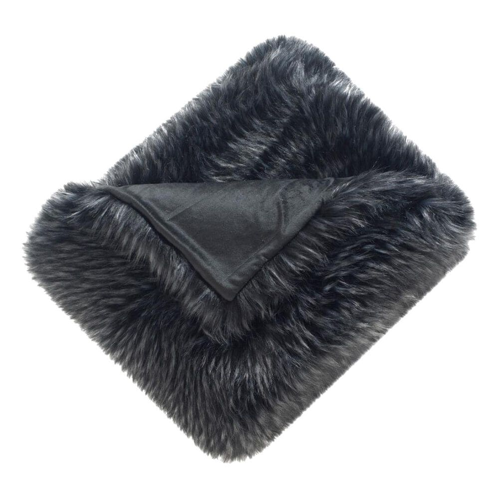 Safavieh Grizzly Throw in Midnight Black, , large