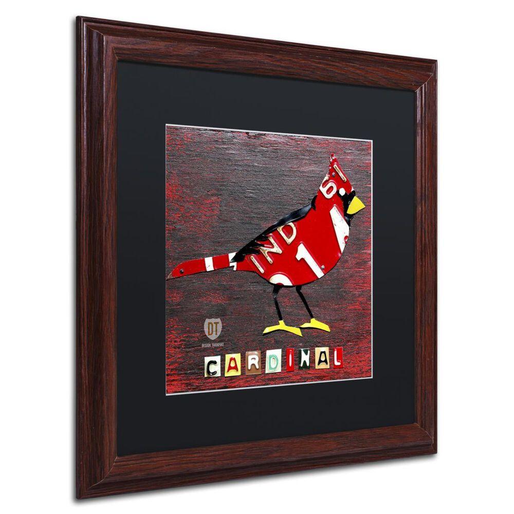 """Timberlake 16"""" x 16"""" Indiana Cardinal Art in Black Matting, , large"""