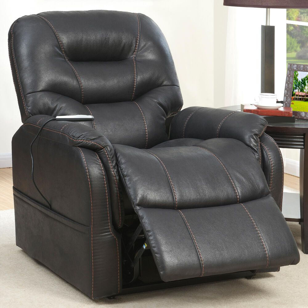 Accentric Approach Heat and Massage Lift Chair in Black, , large