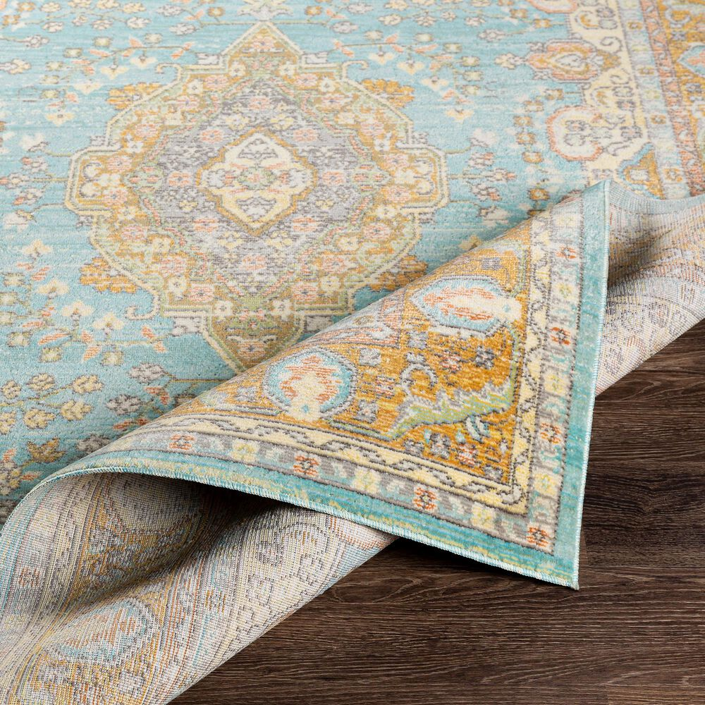 """Surya Bodrum 5'3"""" x 7'3"""" Saffron, Gray and Blue Area Rug, , large"""