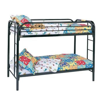 Monarch Specialties Black Metal Twin / Twin Bunk Bed Only, , large