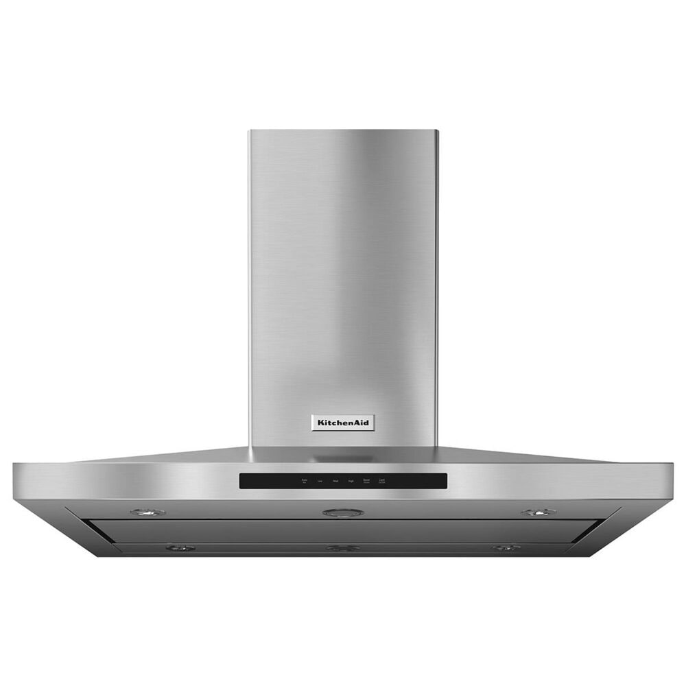 KitchenAid 42'' Island-Mount 3-Speed Canopy Hood in Stainless Steel, , large