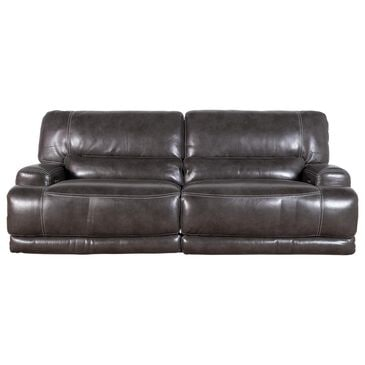 Sienna Designs Leather Power Reclining Sofa with Power Headrest in Stampede Charcoal, , large