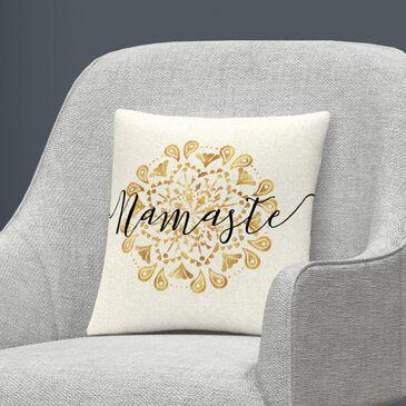 Timberlake Veronique Charron 'Namaste I' 16 x 16 Decorative Throw Pillow, , large