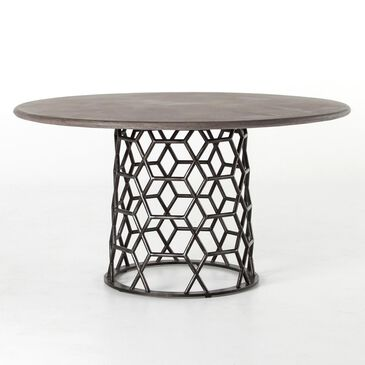 Four Hands Everett Round Dining Table in Concrete and Iron - Table Only, , large