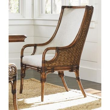 Tommy Bahama Home Bali Hai Marabella Upholstered Arm Chair in Warm Brown, , large