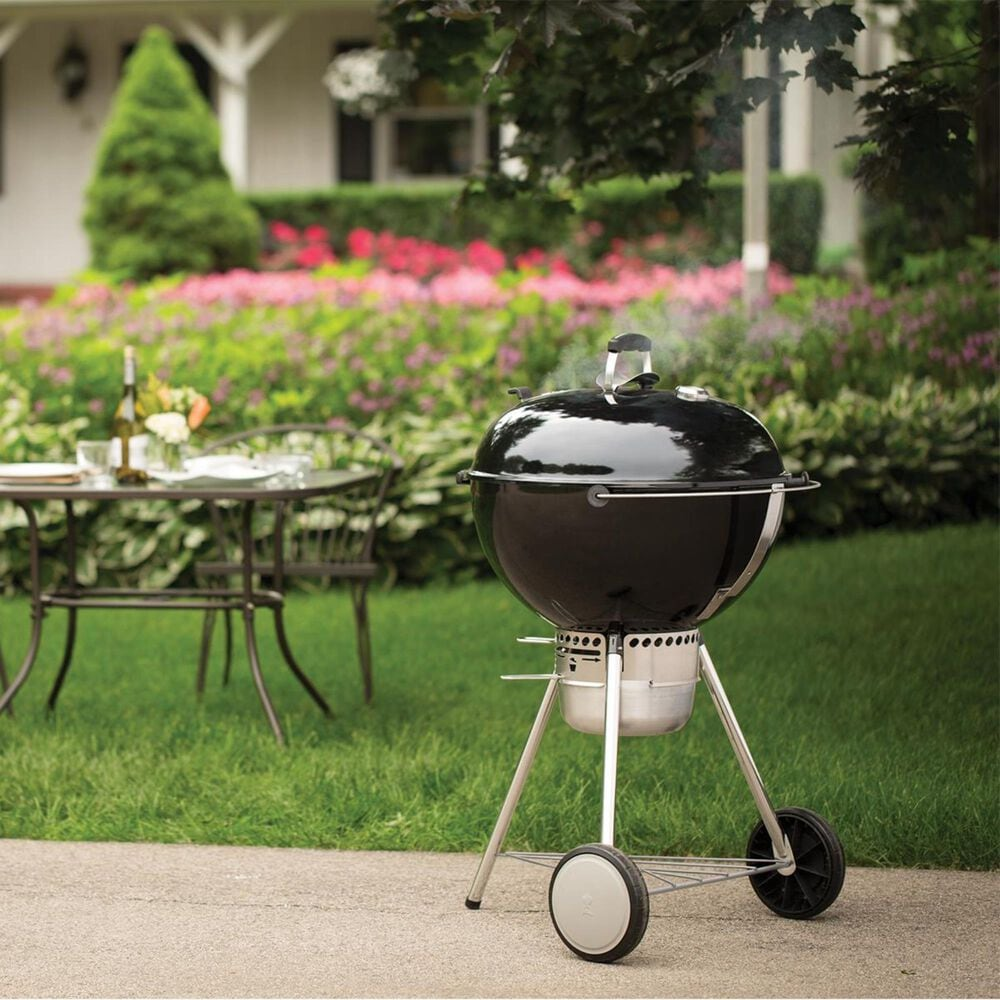 """Weber 22"""" Master Touch Charcoal Grill in Black, , large"""