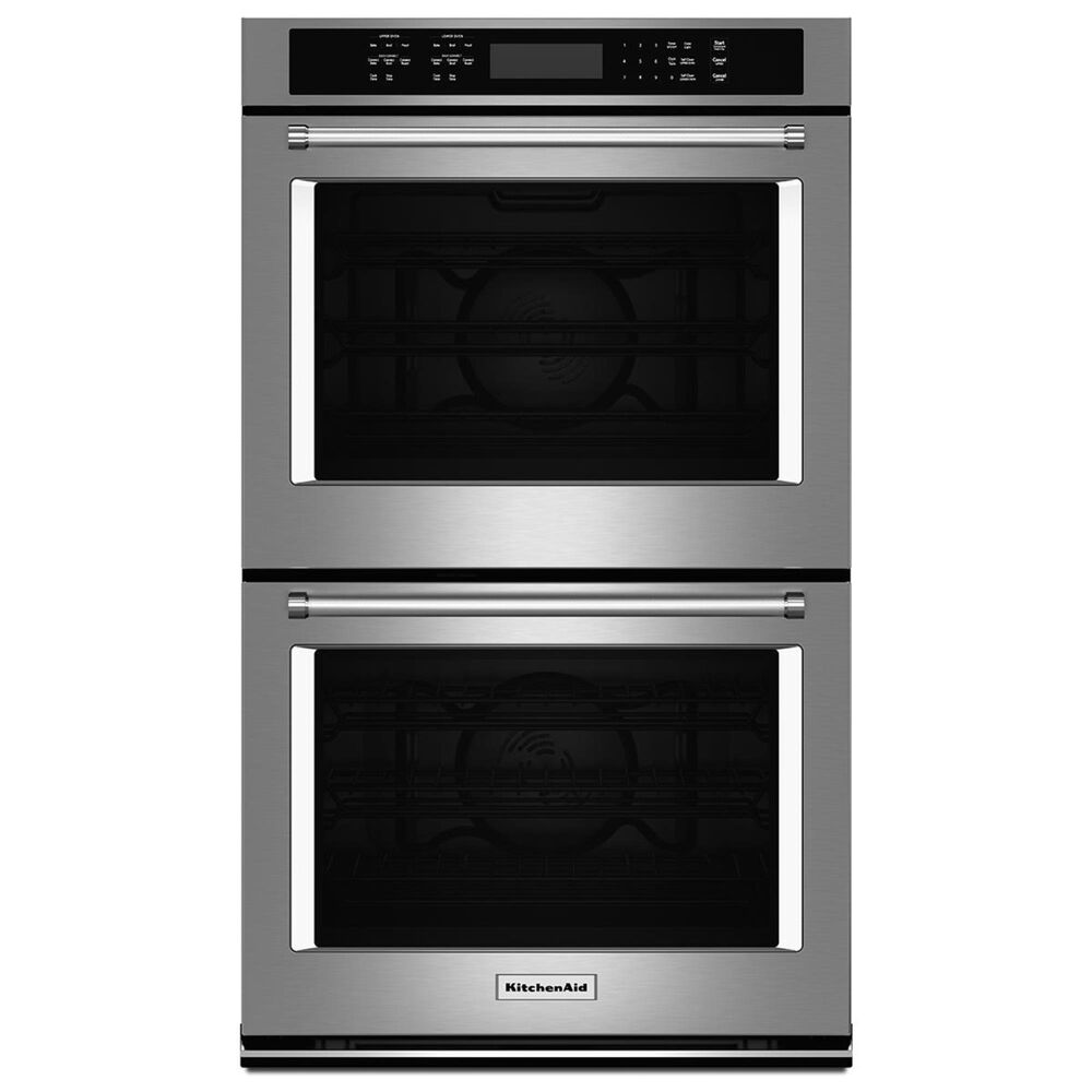 """KitchenAid 27"""" Double Electric Wall Oven with Convection in Stainless Steel, , large"""