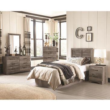 Seven Stars Brinkley 5 Piece Twin Bedroom Set in Manslough Oak, , large