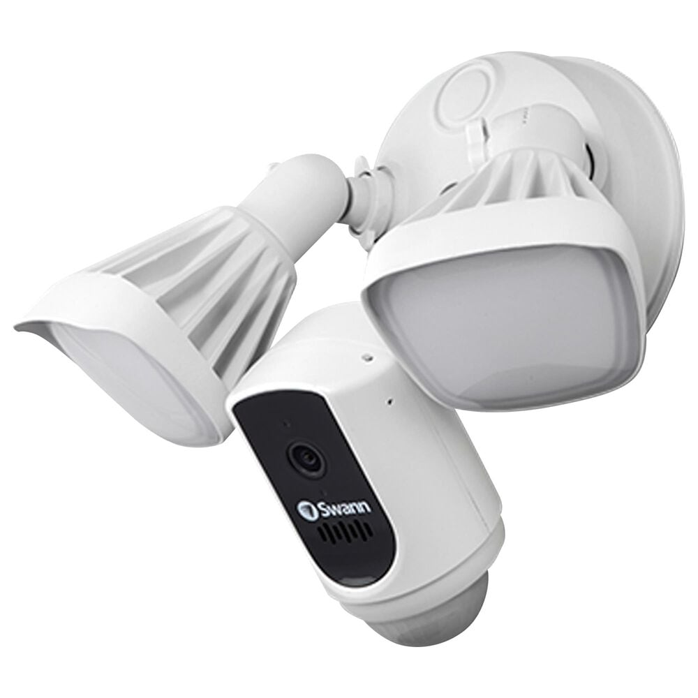 Swann Wi-Fi Floodlight Security Camera in White, , large