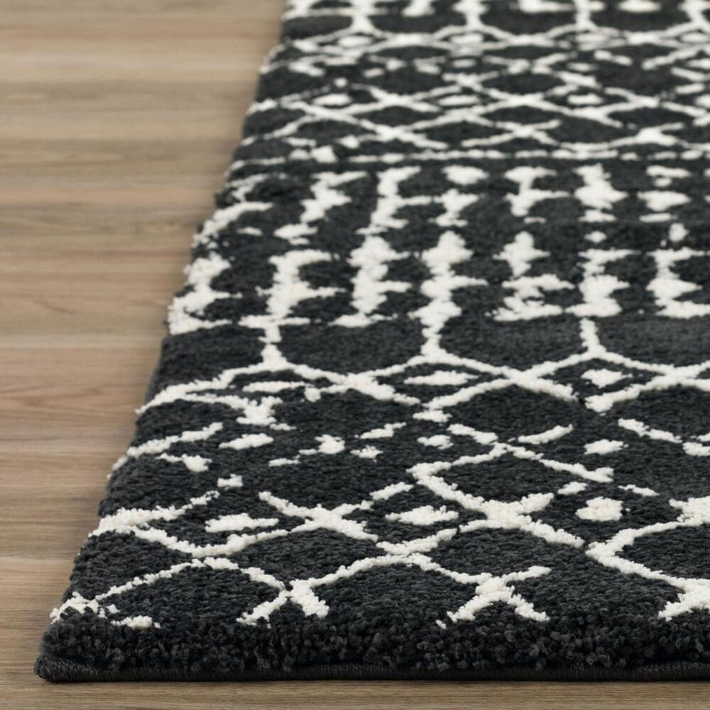 """Dalyn Rug Company Marquee MQ2 2'3"""" x 7'5"""" Midnight and Ivory Runner, , large"""