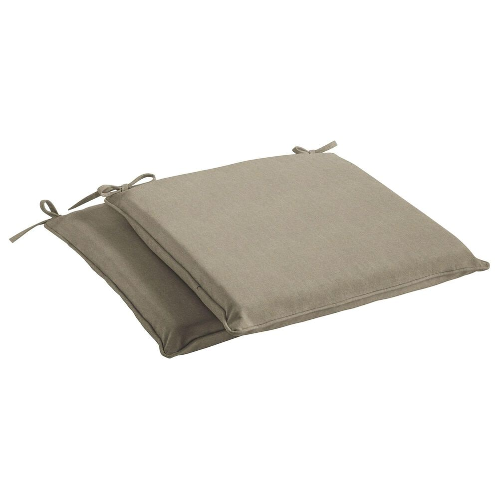 """Sorra Home Sunbrella 17"""" Chair Pad in Canvas Taupe (Set of 2), , large"""