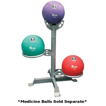 Body Solid Medicine Ball Rack Gray, , large