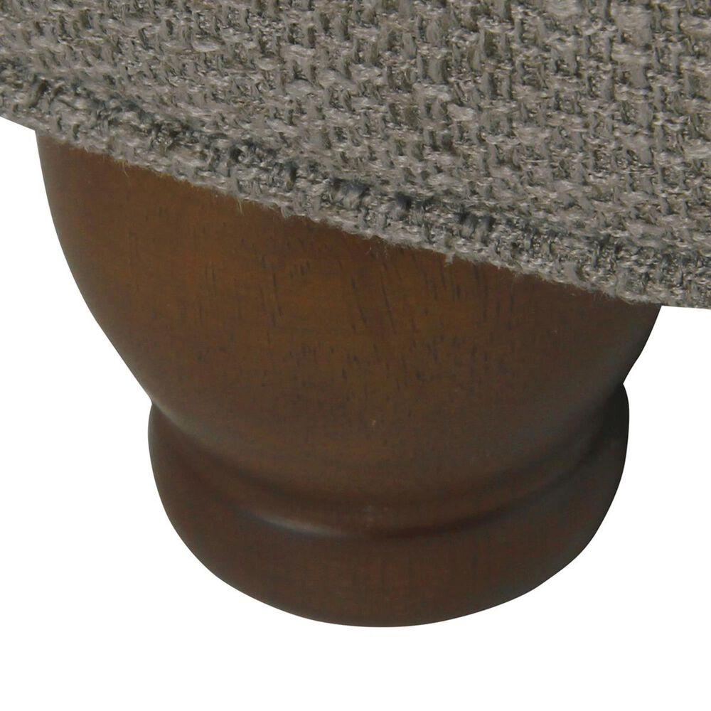 Kinfine HomePop Large Tufted Round Storage Ottoman in Dark Gray, , large