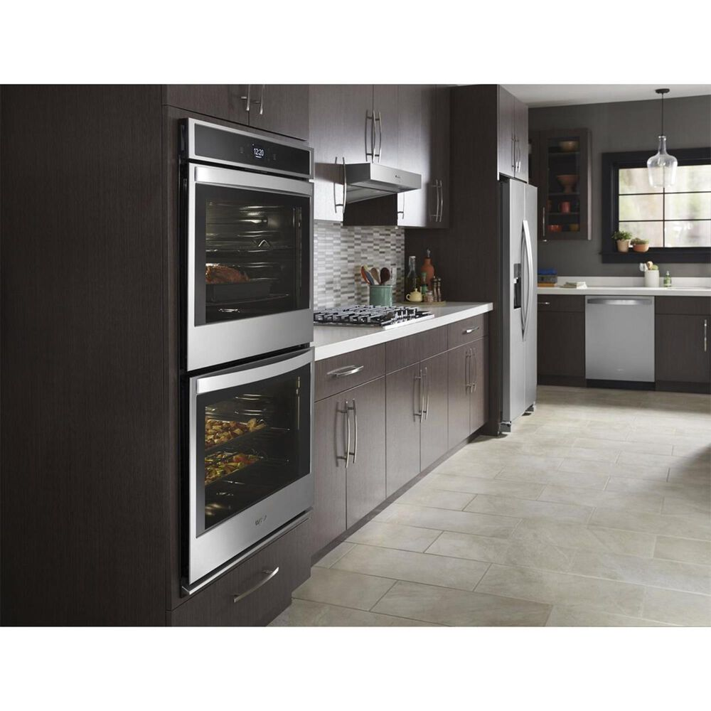 "Whirlpool 27"" Electric Double Wall Oven in Stainless Steel, , large"