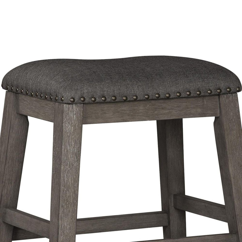 Signature Design by Ashley Caitbrook Upholstered Counter Height Stool in Antiqued Gray Wash, , large