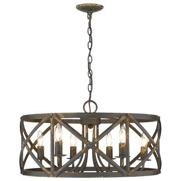 Golden Lighting Alcott 6-Light Chandelier in Antique Black Iron, , large
