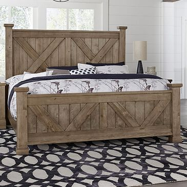 Viceray Collections Cool Rustic Queen Bed in Stone Grey, , large