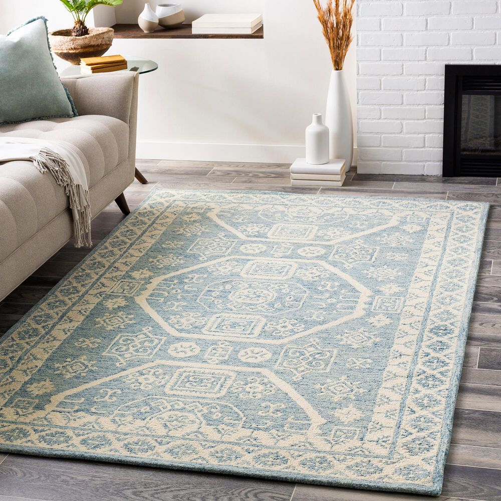 Surya Granada GND-2321 8' x 10' Pale Blue, Beige and Sky Blue Area Rug, , large