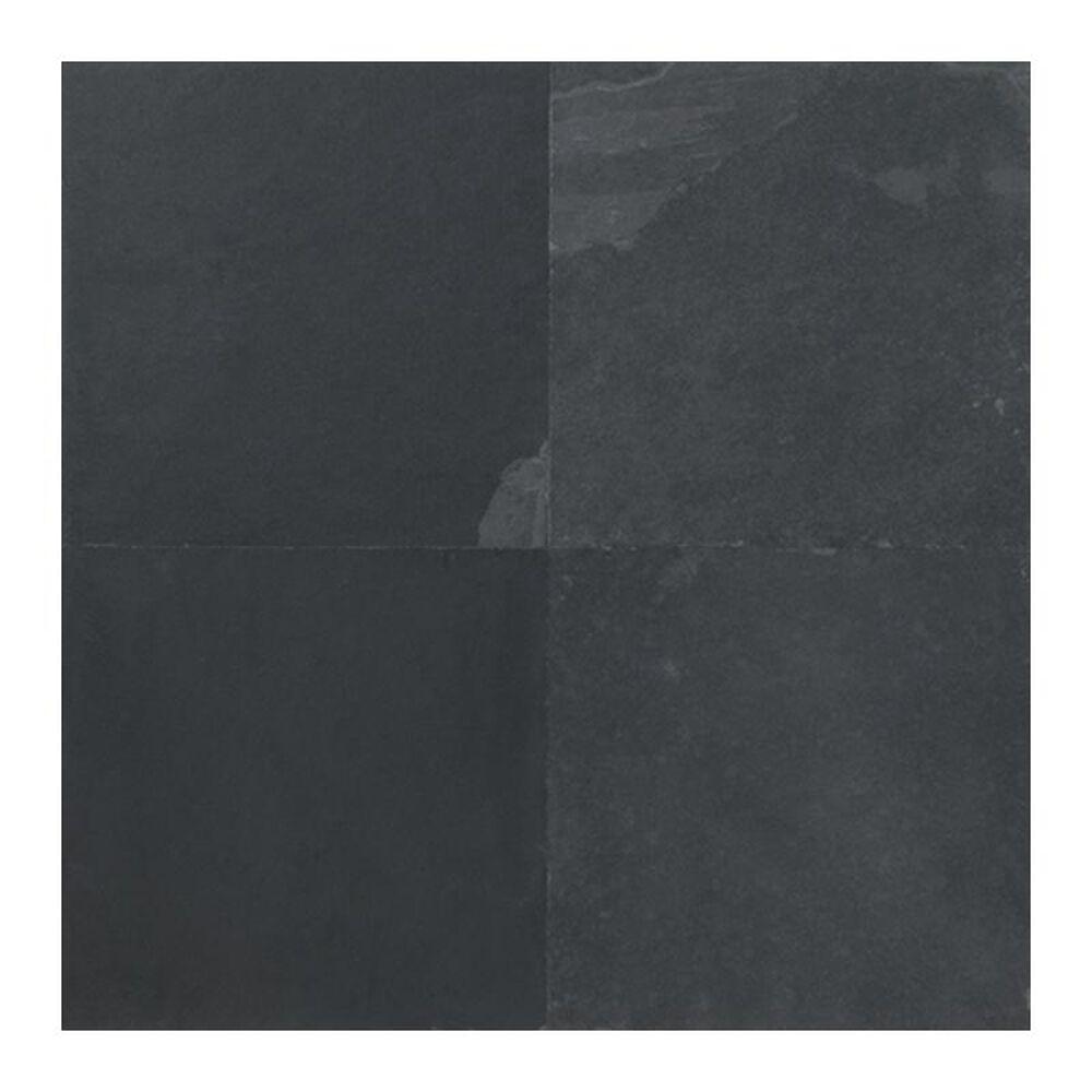 """Dal-Tile Slate 16"""" x 16"""" Natural Cleft Stone Tile in Black, , large"""