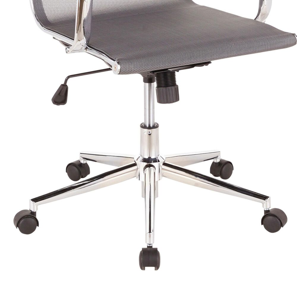 Lumisource Mirage Office Chair in Silver/Chrome, , large